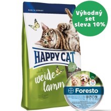 Happy Cat Supreme Adult Weide-Lamm 10 kg + antiparazitní obojek Foresto 38 cm