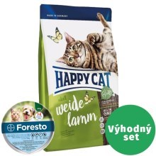 Happy Cat Supreme Adult Weide-Lamm SET 10 kg + Foresto 38
