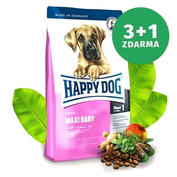 happy dog supreme maxi baby 15 kg 3 1 zdarma. Black Bedroom Furniture Sets. Home Design Ideas