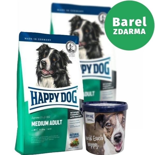 happy dog supreme medium adult duo pack 2 x 12 5 kg. Black Bedroom Furniture Sets. Home Design Ideas