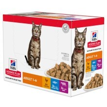 Hill's Feline Adult Chicken & Beef & Ocean Fish kapsičky 12x 85 g