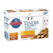 Hill's Feline Adult Multipack (Chicken, O. Fish, Beef) 12 x 85 g