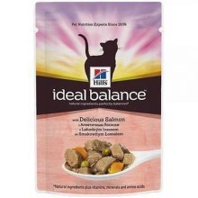 Hill's Feline Ideal Balance Adult kapsička Salmon & Vegetable 85 g