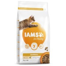 Iams Cat Adult Hairball Chicken 2 kg