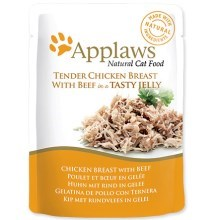 Kapsička Applaws cat pouch chicken with beef in jelly 70 g