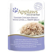 Kapsička Applaws cat pouch chicken with liver in jelly 70 g