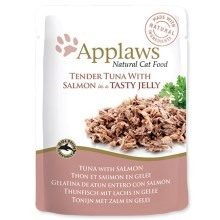 Kapsička Applaws cat pouch tuna wholemeat with salmon in jelly 70g