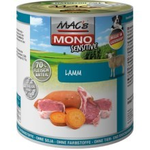 Konz. MACs Dog Mono Sensitive jehně 800 g