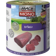 Konz. MACs Dog Mono Sensitive zvěřina 800 g