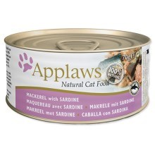 Konzerva Applaws Cat Mackerel & Sardine 70 g
