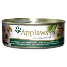 Konzerva Applaws Dog Chicken, Beef, Liver & Veg 156g