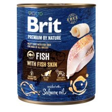 Konzerva Brit Premium by Nature Fish & Fish Skin 800 g