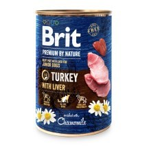 Konzerva Brit Premium by Nature Turkey & Liver 400 g