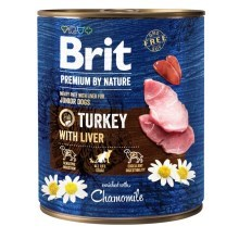 Konzerva Brit Premium by Nature Turkey & Liver 800 g