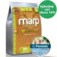 Marp Holistic Chicken Cat 2 kg + antiparazitní obojek Foresto 38 cm
