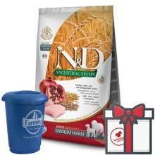 N&D Ancestral Grain Dog Adult M/L Chicken & Pomegranate 12 kg