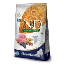 N&D Ancestral Grain Dog Puppy M/L Lamb & Blueberry 12 kg
