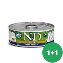 N&D Cat konzerva Adult Lamb & Blueberry 80 g SET 1+1 ZDARMA