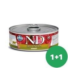 N&D Cat  konzerva Urinary Duck & Cranberry 80 g SET 1+1 ZDARMA