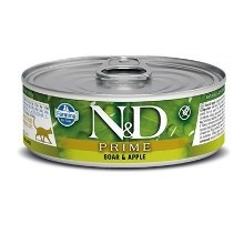 N&D Cat Prime konzerva Adult Boar & Apple 80 g