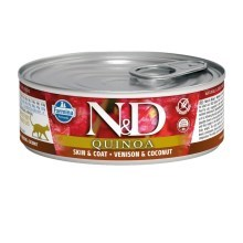 N&D Cat Quinoa konzerva Venison & Coconut 80 g
