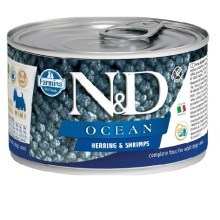 N&D Dog Ocean konzerva Adult Herring & Shrimps Mini 140 g