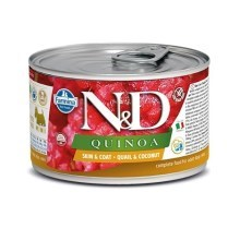 N&D Dog Quinoa konzerva Quail & Coconut Mini 140 g