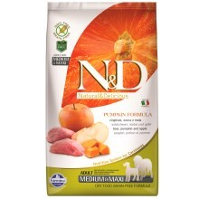 N&D GF Pumpkin Dog Adult M/L Boar & Apple 12 kg