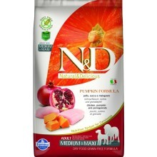 N&D GF Pumpkin Dog Adult M/L Chicken & Pomegranate 12 kg