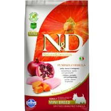 N&D GF Pumpkin Dog Adult Mini Chicken & Pomegranate 800 g