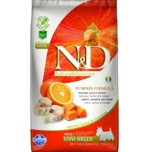 N&D GF Pumpkin Dog Adult Mini Codfish&Orange 2,5 kg