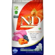 N&D GF Pumpkin Dog Puppy M/L Lamb&Blueberry 2,5 kg