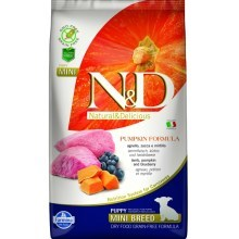 N&D GF Pumpkin Dog Puppy Mini Lamb&Blueberry 2,5 kg