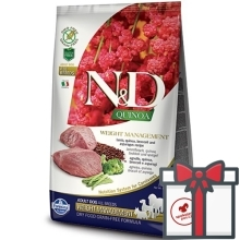 N&D GF Quinoa Dog Weight Mngmnt Lamb & Broccoli 7 kg