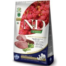 N&D GF Quinoa Dog Weight Mnmgnt Lamb & Broccoli 2,5 kg