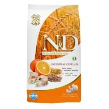 N&D Low Grain Dog Adult Codfish&Orange 12 kg