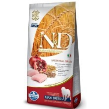 N&D Low Grain Dog Adult Maxi Chicken&Pomegranat 12 kg