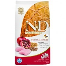 N&D Low Grain Dog Adult Mini Chicken & Pomegr 800 g