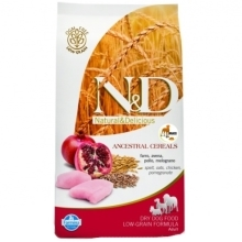N&D Low Grain Dog Adult Mini Chicken&Pomegranate 2,5 kg