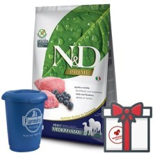 N&D Prime Dog Adult M/L Lamb & Blueberry 12 kg