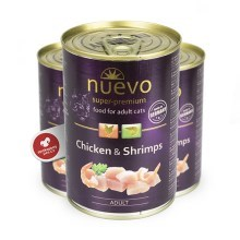 Nuevo Cat konzerva Adult Chicken & Shrimps 400 g