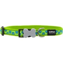 Obojek Red Dingo L 41-63 cm Stars Turquoise on Lime Green
