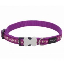 Obojek Red Dingo M 30 - 47 cm Daisy Chain Purple