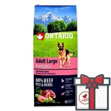 Ontario Adult Large Beef & Rice 12 kg