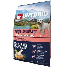 Ontario Adult Large Weight Control Turkey 2,25 kg VÝPRODEJ