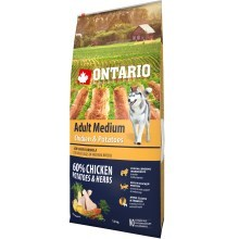 Ontario Adult Medium Chicken & Herbs 12 kg