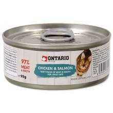 Ontario Cat konzerva Chicken Pieces & Salmon 95 g