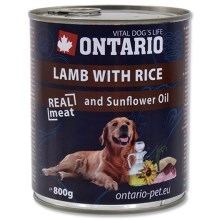 Ontario konzerva Lamb, Rice, Sunflower Oil (800 g)