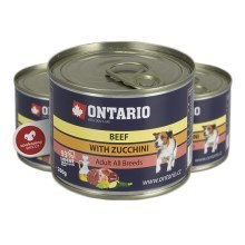 Ontario konzerva mini Beef, Zucchini, Dandelion and linseed oil 200 g