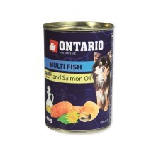 Ontario konzerva mini multi fish and salmon oill 400 g
